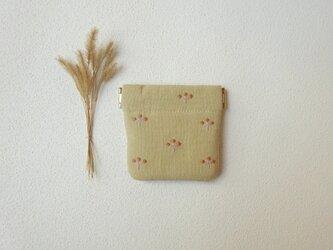 植物バネポーチ(ミニ・イエローベージュ)の画像