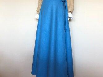 フランス製ウール ラップフレアースカートの画像