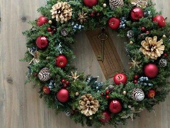 クリスマスリース(1218)~Santa's Magic Key(R)~ 35cmの画像