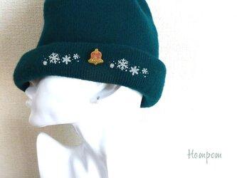 クリスマスベルのピンバッジ☆ゴールド ホムポムの画像