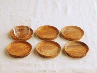 木製コースター 欅材 丸型(1枚ずつの販売です)の画像