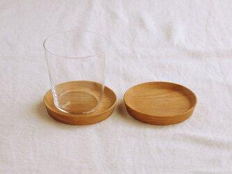 2枚セット 木製コースター 欅材5 丸型の画像