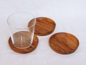 木製コースター 桜材8 3枚セット 丸型の画像
