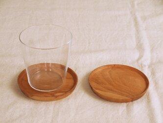 2枚セット 木製コースター 桜材3 丸型の画像