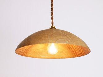 木製 ペンダントランプ 天井照明 楢材8の画像