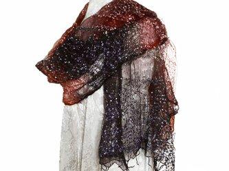 広巾変わり織りストール の画像