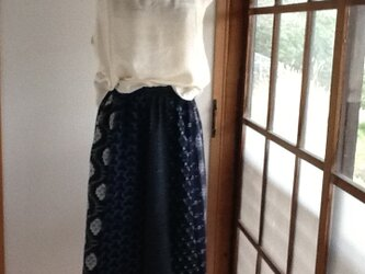 色々綿の着物からのギャザースカートの画像