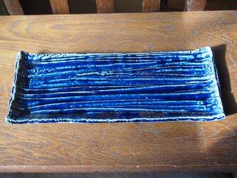 ZAO BLUE秋刀魚板皿 11の画像