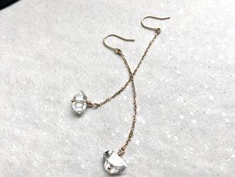 k10 NYハーキマーダイヤモンドのピアスの画像