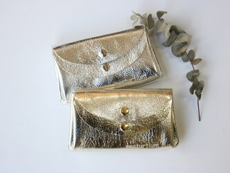 【ゴールド】ピッグスキンの小さなお財布 の画像