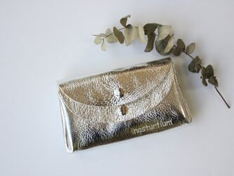 【シルバー】ピッグスキンの小さなお財布 の画像