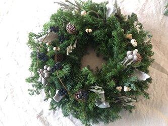 ☆Miさま専用ページ**森の中の緑のクリスマスリース(4)の画像