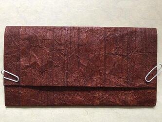 長財布(お札・懐紙入れ) 柿渋揉み和紙の画像