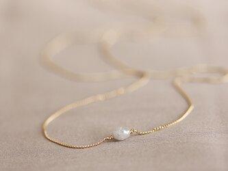K18 バルーンダイヤモンド・ネックレスの画像