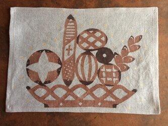 柿渋染め染布  聖なるパンの画像
