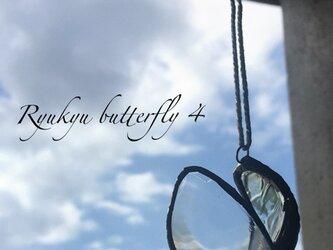 琉球ガラスbutterfly4*羽ばたきの画像