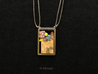 大理石のネックレス(地図を作る)の画像