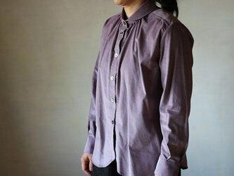 丸襟ブラウス:コーデュロイ紫の画像