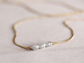 K18 バルーンダイヤモンド・3石ネックレスの画像