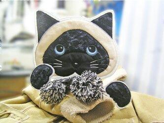 すげーでっかい★おでぶなシャム猫★サイアミーズ★猫ワッペン★足付の画像