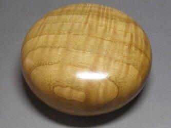 栗材 上杢ガラスコート仕上げ  ミニ食籠 小箱 香盒にも の画像