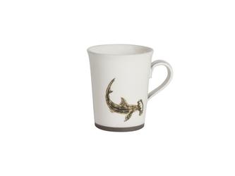 『生産終了』【20%OFF】粉引コーヒーカップ(ハンマーヘッドシャーク)の画像