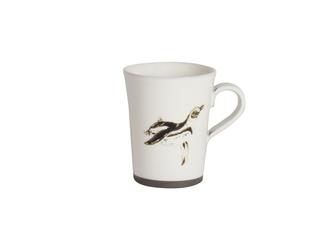 『生産終了』【20%OFF】粉引コーヒーカップ(フンボルトペンギン)の画像