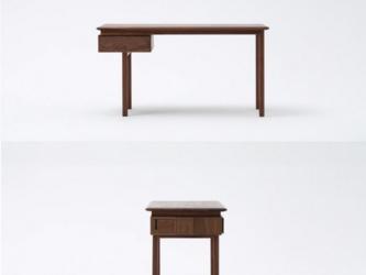 オーダーメイド 職人手作り 北欧家具 勉強机 パソコンデスク テーブル 机 天然木 木目 無垢材家具 エコ LR2018の画像