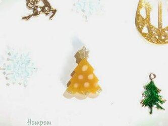 18c012・クリスマスツリーのピンバッジ☆ほのぼのシリーズ ホムポムの画像