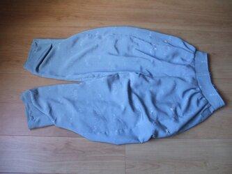羽織1枚から作ったタックサルエルパンツ 絹の画像