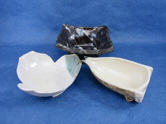 陶器 豆皿・豆鉢:向付3点セットその1(m-10)の画像