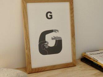 G for Gorilla A4サイズポスター(A3サイズあり!)の画像