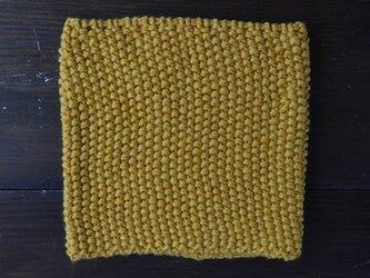 手編みスヌード_イエローの画像