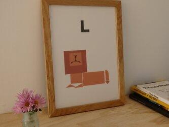 L for Lion A4サイズポスターの画像
