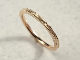 Double milgrain ring {R072K10}の画像