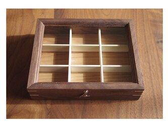 木製アクセサリーケースS ウォルナット(小物入れ・ジュエリーボックス)の画像