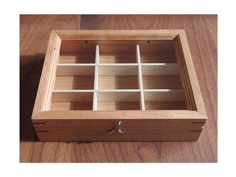 木製アクセサリーケースS チェリー ※受注製作(小物入れ・ジュエリーボックス)の画像