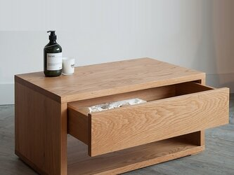 オーダーメイド 職人手作り プリンター台 ナイトテーブル キャビネット 天然木 収納 無垢材 オフィス家具 LR2018の画像