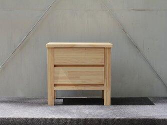 オーダーメイド 職人手作り 北欧モダン ヴィンテージ風 サイドテーブル プリンター台 天然木 木目 サイズオーダー可の画像