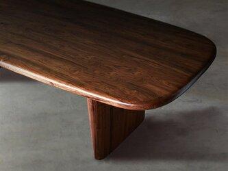 オーダーメイド 職人手作り ダイニングテーブル テーブル 机 木目 リビング 家具 無垢材 天然木 エコ LR2018の画像