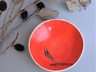 小皿 red small plate (plants) 小の画像
