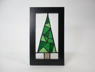 ステンドグラスパネル クリスマスツリー柄 パネルの画像
