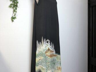 【I様オーダー品】着物リメイク 留袖マキシ丈ワンピースの画像