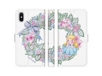 雪の妖精リース iPhone手帳型ケースno.164の画像