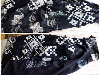 確認用  筒描と古布の刺し子コートの画像