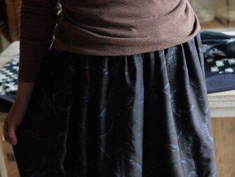 正絹100着物からバルーンスカートの画像