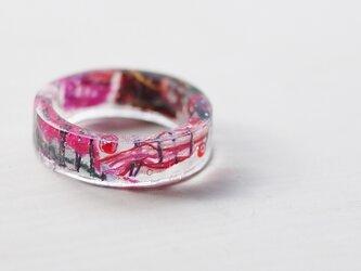 手織り レジン指輪 13号の画像