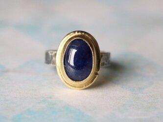 天然石*ブルー・サファイア カボション 指輪*10号の画像