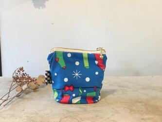 北欧クリスマス柄☆ちょこっとポーチ(051)の画像