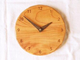 「みあさまご注文の品」木製 掛け時計 丸 ケヤキ材の画像